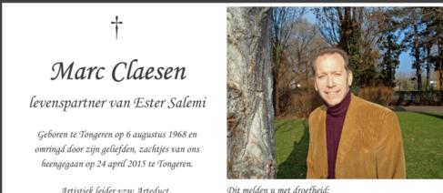 Marc Claesen (1968-2015)