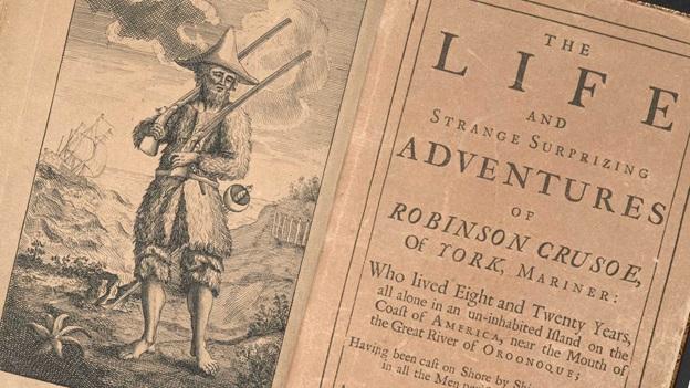 """300 jaar geleden: publicatie van """"RobinsonCrusoe"""""""