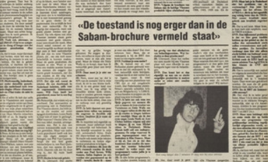 Veertig jaar geleden: Witboek vanSABAM