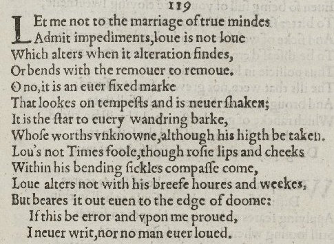 """""""Love and time"""", sonnet 116 by WilliamShakespeare"""