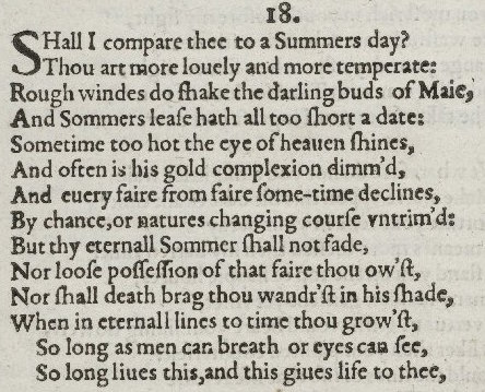 """""""Shall I compare thee"""" (sonnet18)"""