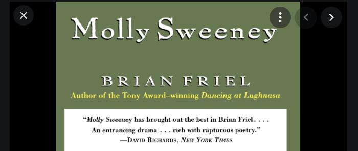 """25 jaar geleden: """"Molly Sweeney"""" van Brian Friel inArca"""