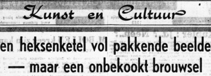 """65 jaar geleden: """"De Kapellekensbaan"""" van Louis PaulBoon"""