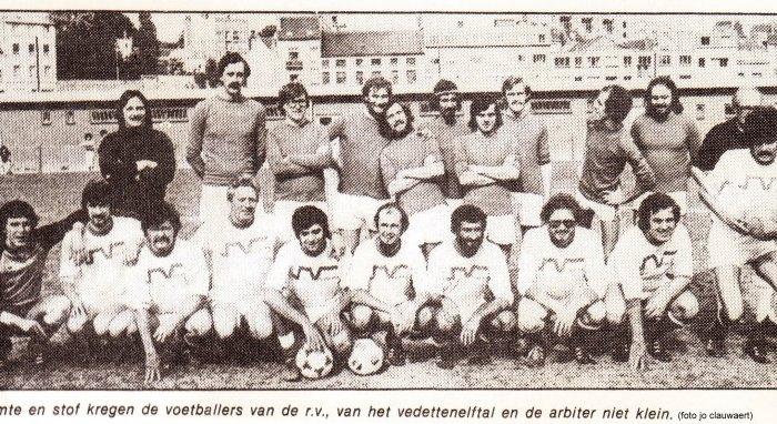 """Veertig jaar geleden: De Rode Vaan tegen  """"vedettenelftal"""""""