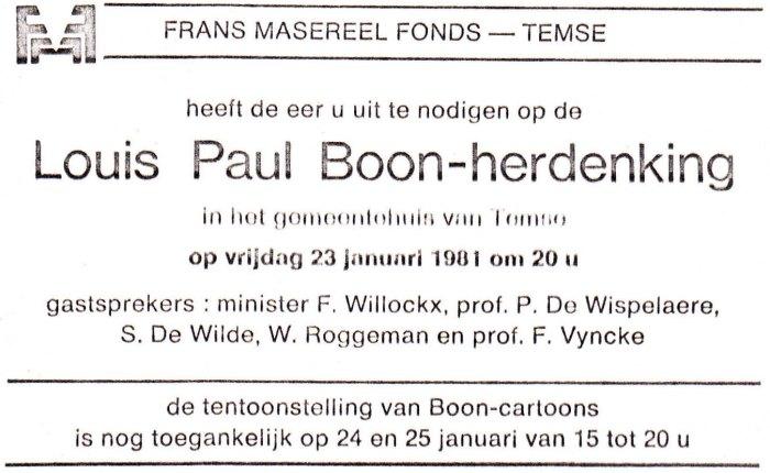 Louis Paul Boon herdacht teTemse