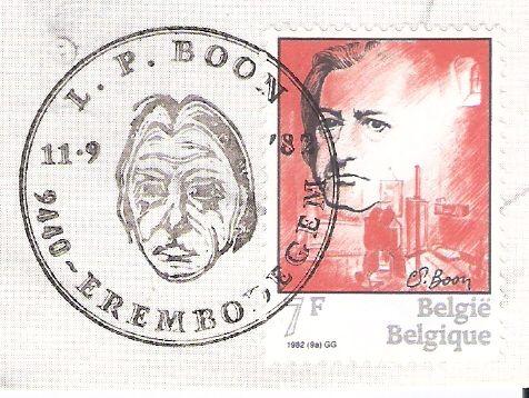 Postzegel ter ere vanL.P.Boon