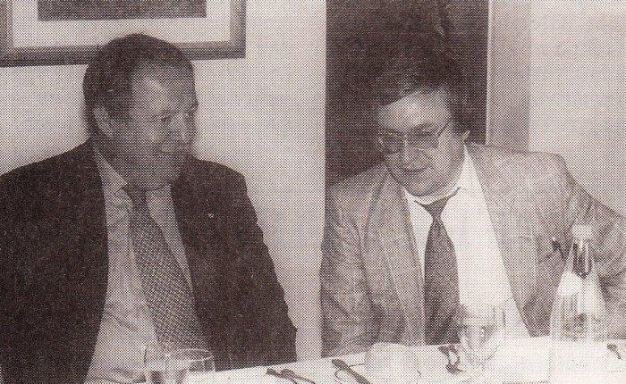 25 jaar geleden: Präsidentin Susanne Tiemann empfängt Dr.Haiden und seinTeam