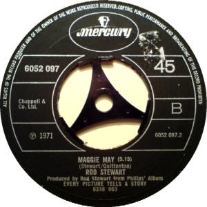"""""""Maggie May"""" komt binnen in de hitparade; of is het """"Reason tobelieve""""?"""