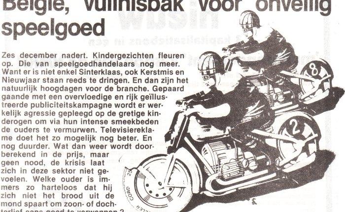 Veertig jaar geleden: België, vuilnisbak voor onveiligspeelgoed