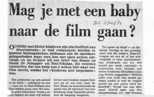 Tien jaar geleden: bioscoop voorbaby's