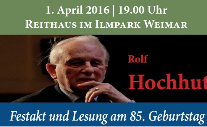 Rolf Hochhuth wordt85…