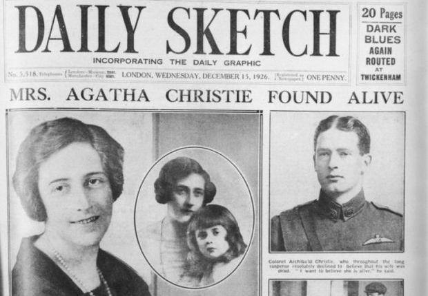 Negentig jaar geleden verdween AgathaChristie