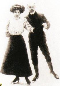 86 het echtpaar Syers op de os 1908