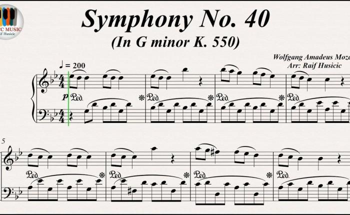 De veertigste symfonie van Wolfgang AmadeusMozart