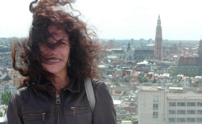 25 jaar geleden: met Muriel Bialek op detram