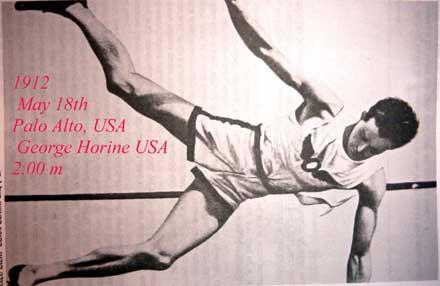 George Horine is de allereerste mens die over twee meterspringt