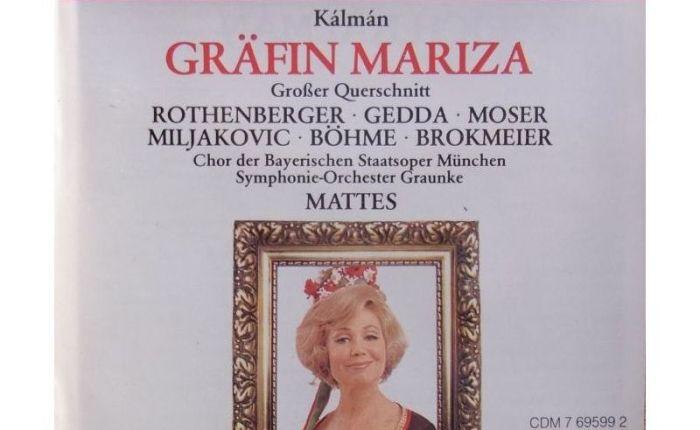 """95 jaar geleden: première van """"GräfinMariza"""""""