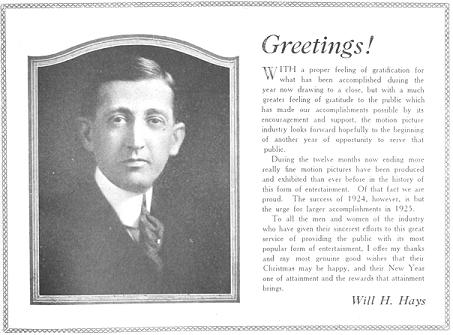 Will Hays (1879-1954)