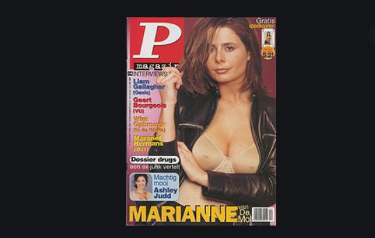 Twintig jaar geleden: Marianne Dupon in P-Magazine enHumo
