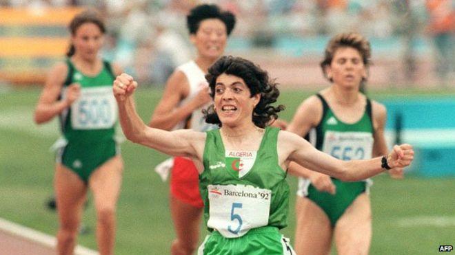 25 jaar geleden: Hassiba Boulmerka wint de 1500 meter inBarcelona