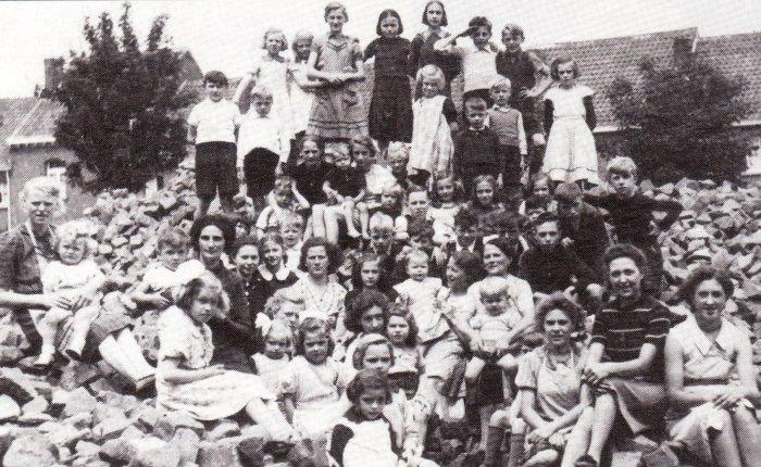 Bewoners van de Volksplaats in1941