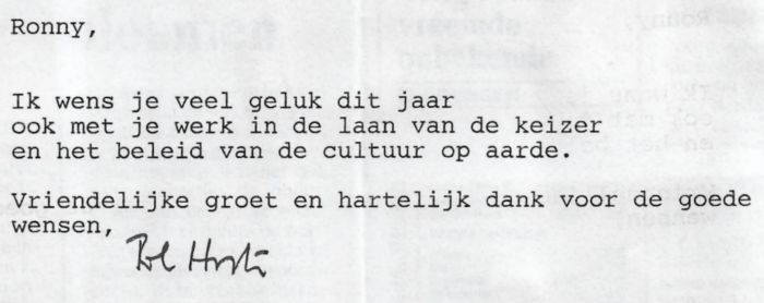 13 nieuwjaarswensen pol hoste 1996
