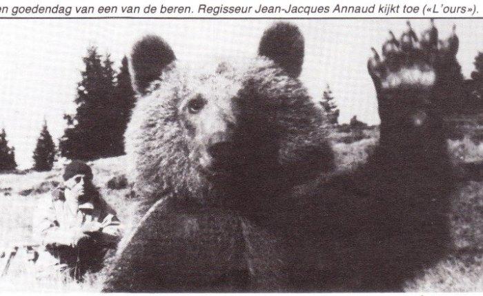 """Dertig jaar geleden: Jean-Jacques Annaud begint met het draaien van """"L'ours"""""""