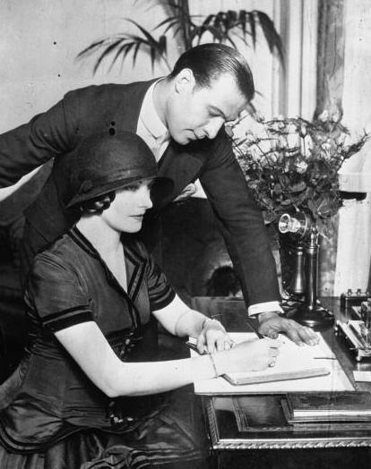 95 jaar geleden: huwelijk Rudolph Valentino met NatashaRambova