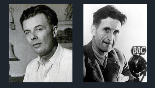 Zeventig jaar geleden: Aldous Huxley feliciteert GeorgeOrwell