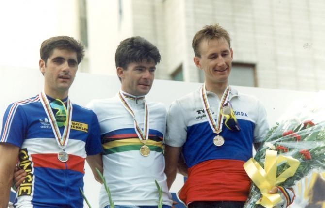 25 jaar geleden: Gianni Bugno verlengt zijn titel vanwereldkampioen