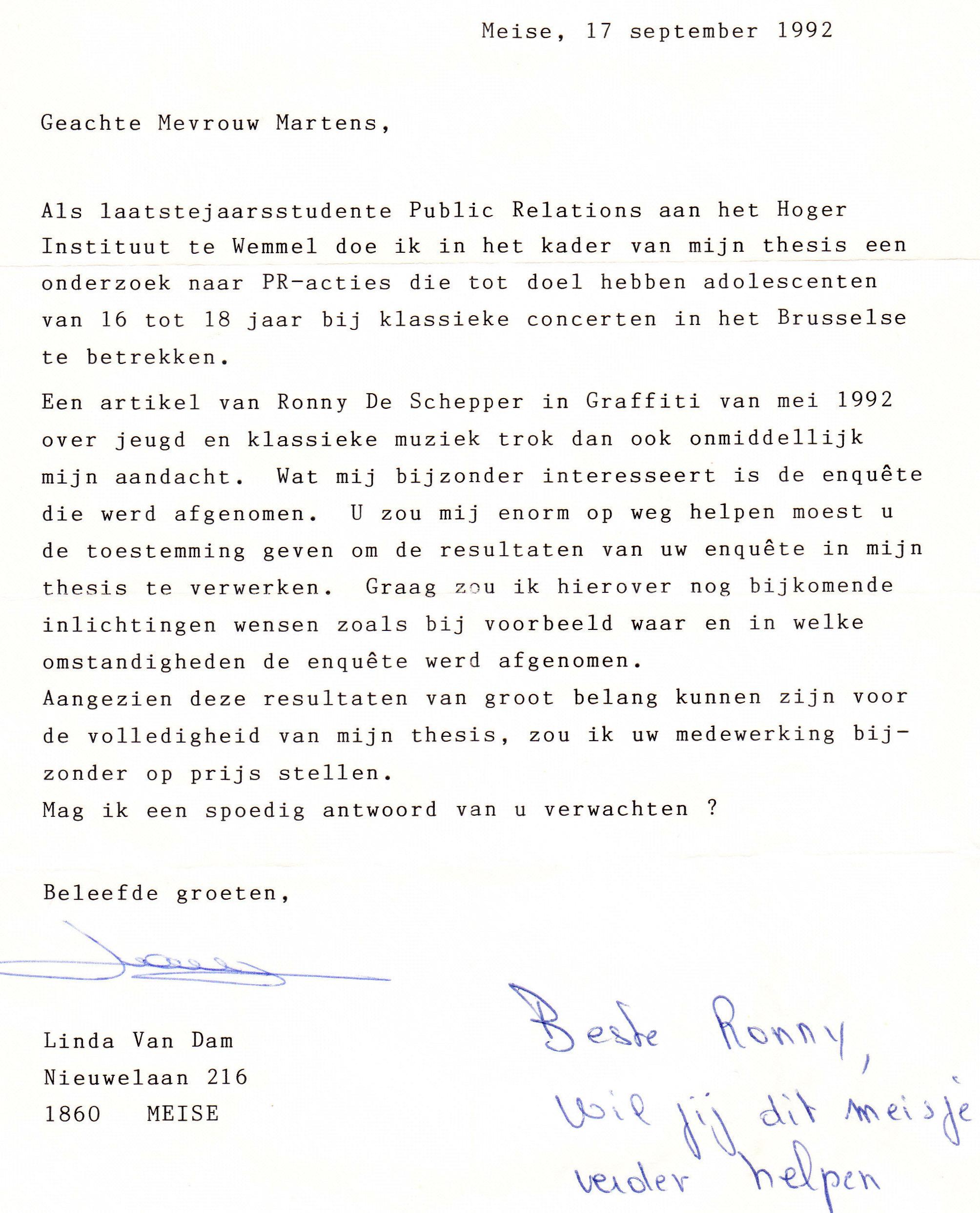 08 brief van linda van dam aan daisy martens