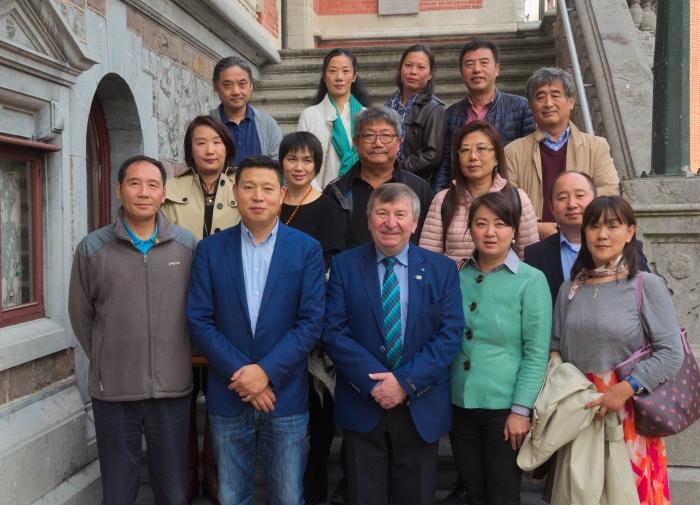 Chinese gidsen op bezoek inTemse