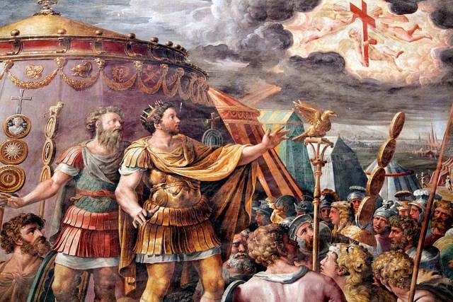 1705 jaar geleden: keizer Constantijn ziet hetlicht