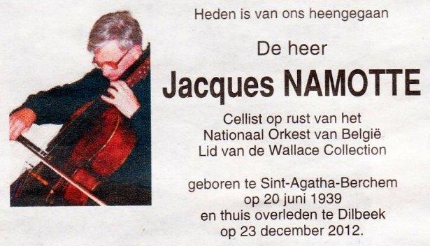 Jacques Namotte (1939-2012)