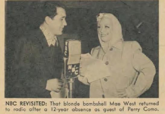 Tachtig jaar geleden: Mae West verbannen van deradio