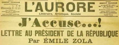 """120 jaar geleden: Emile Zola publiceert """"J'accuse"""""""