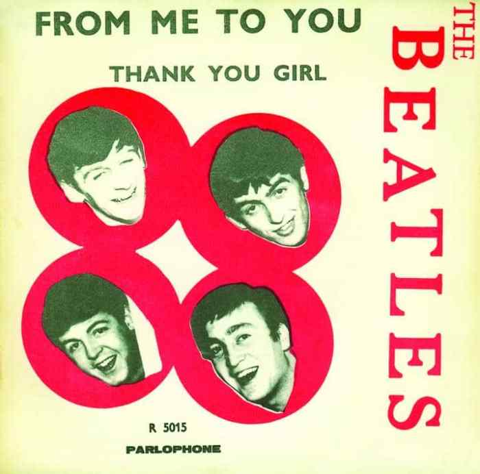 "55 jaar geleden: The Beatles nemen ""From me to you"" op"