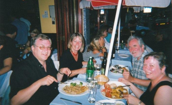 Vijftien jaar geleden: bij Julie en Tony inLonden!