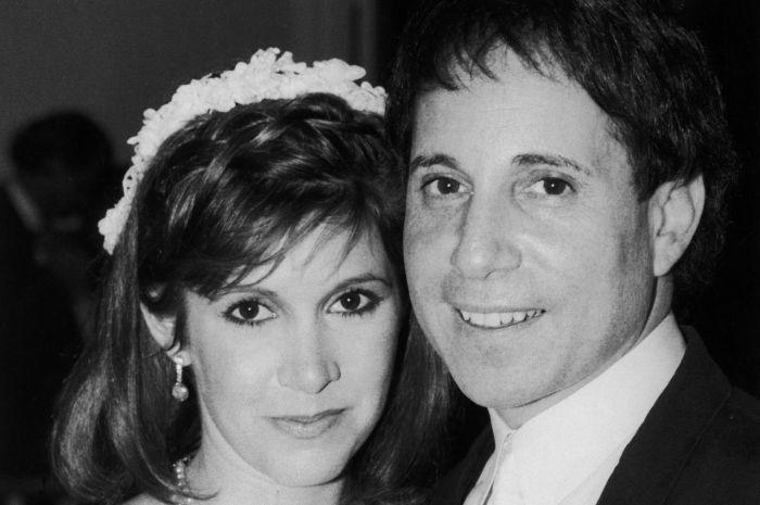 35 jaar geleden: huwelijk van Paul Simon met CarrieFisher