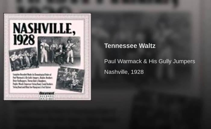 Negentig jaar geleden: de eerste opname inNashville