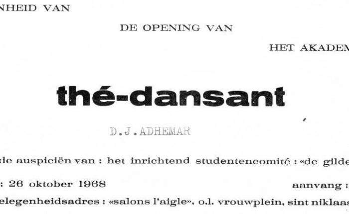 Vijftig jaar geleden: thé-dansant metd.j.Adhemar