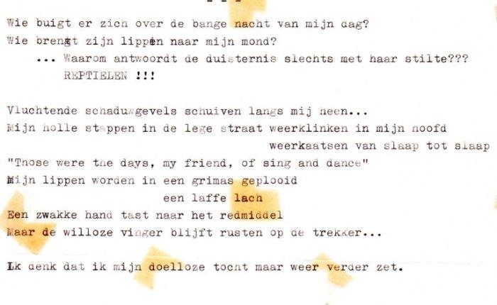 Vijftig jaar geleden: een gedicht(sic)