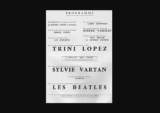 55 jaar geleden: The Beatles in L'Olympia(Parijs)
