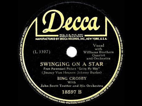 """75 jaar geleden: """"Swinging on a star"""" van BingCrosby"""