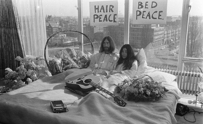 Vijftig jaar geleden: bed-in van John &Yoko