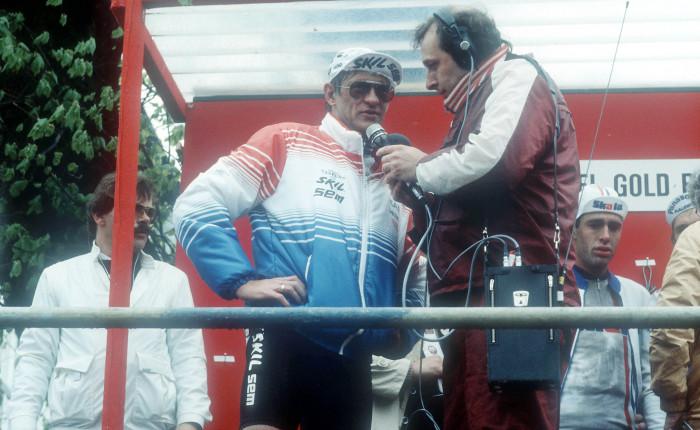 Gerrie Knetemann wint voor een tweede keer de Amstel GoldRace