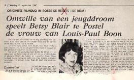 """Film """"De Bom"""" met Louis PaulBoon"""