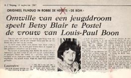 "Film ""De Bom"" met Louis Paul Boon"