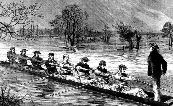 190 jaar geleden: eerste boat race tussen Oxford enCambridge