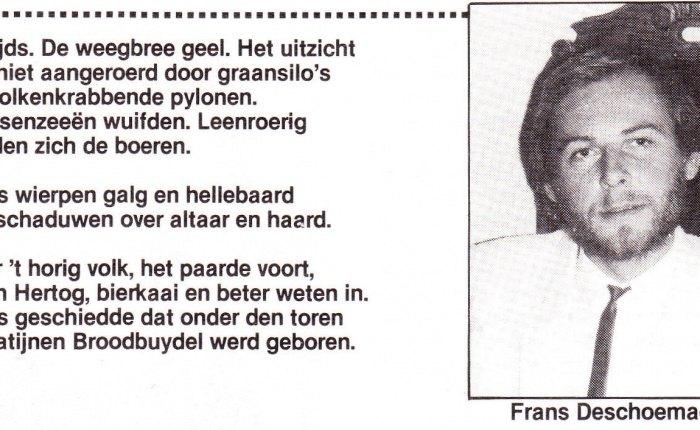 Frans Deschoemaeker wordt65…